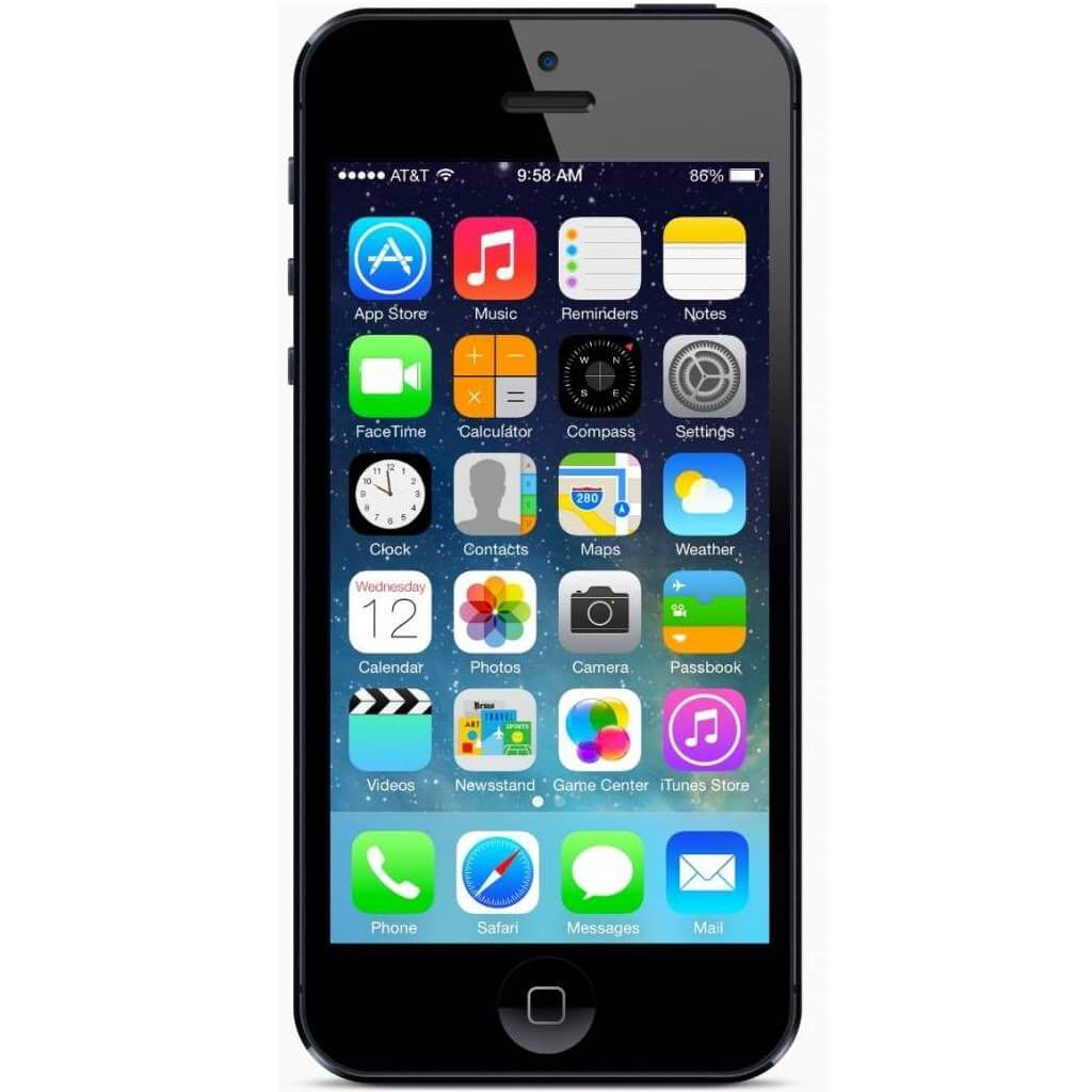 refurbished iphone 5 zwart voorkant