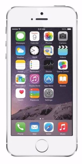 Refurbished iPhone 5s 16GB Wit Voorkant