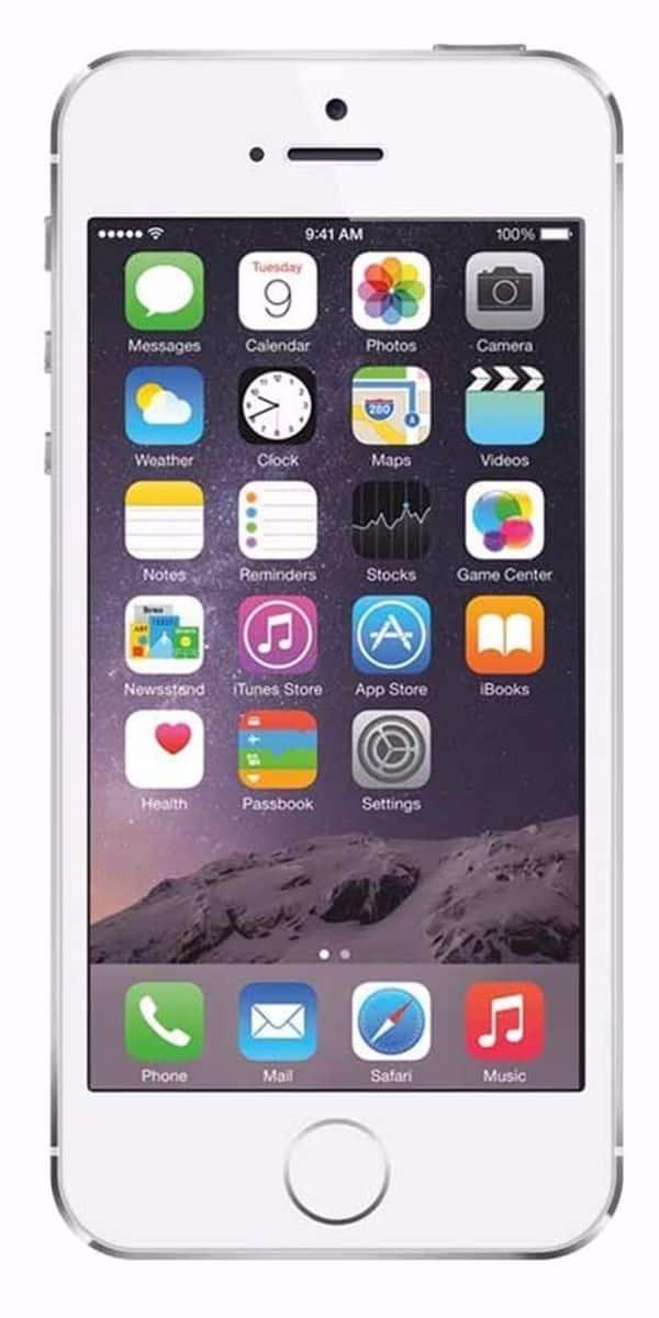 Refurbished iPhone 5s 16GB Wit Voorkant