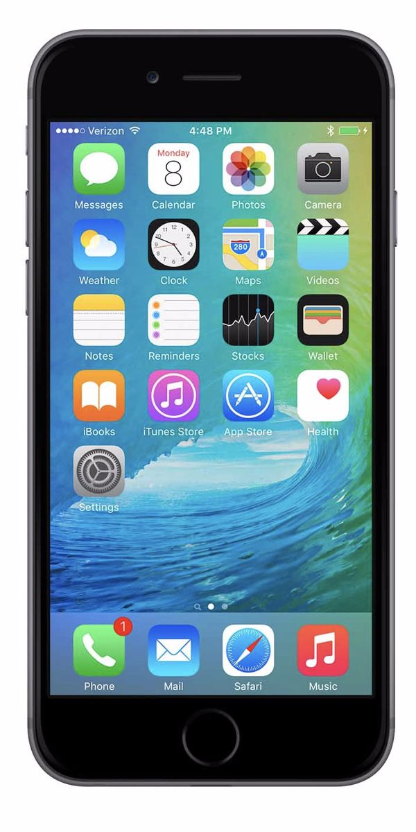 Refurbished iPhone 6 128GB Zwart Voorkant