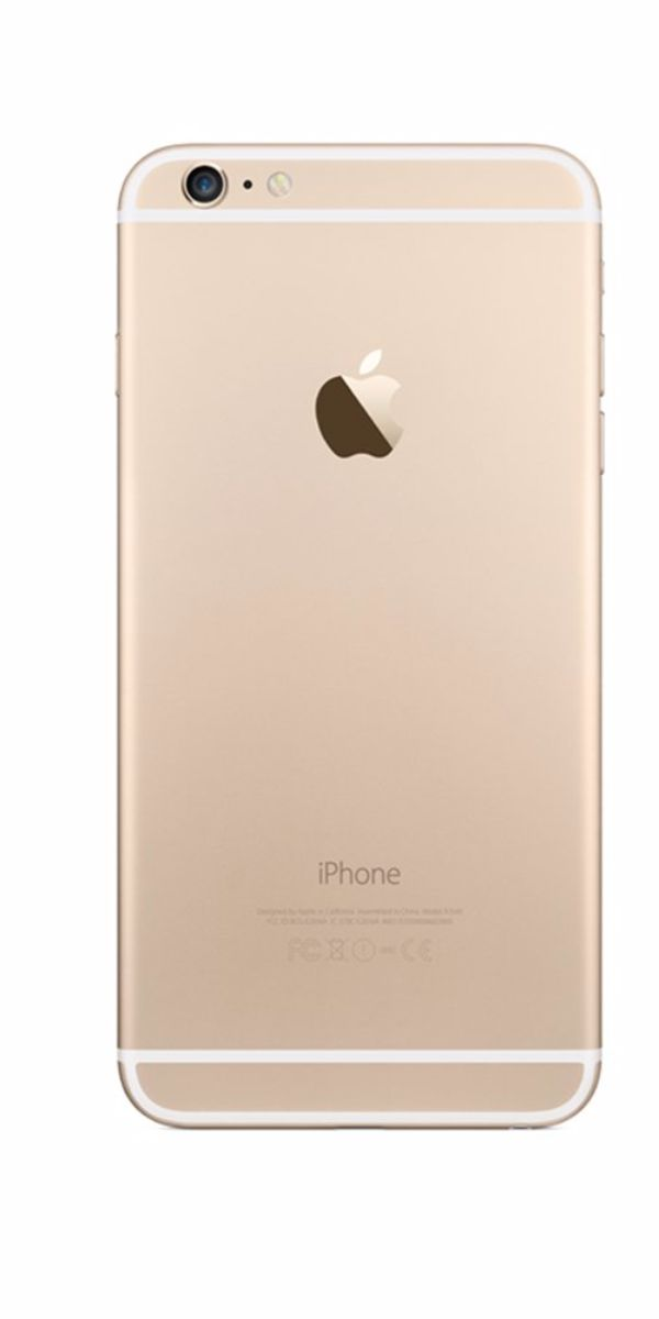 Refurbished iPhone 6 128GB goud achterkant