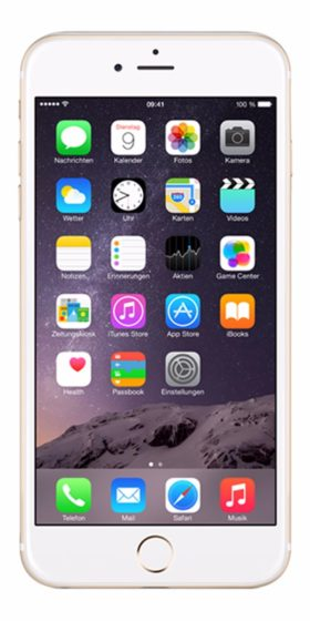 Refurbished iPhone 6 128GB goud voorkant