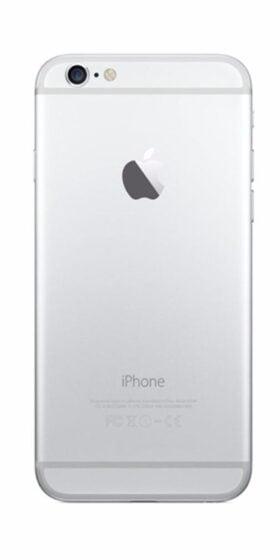 Refurbished iPhone 6 64GB Wit Achterkant
