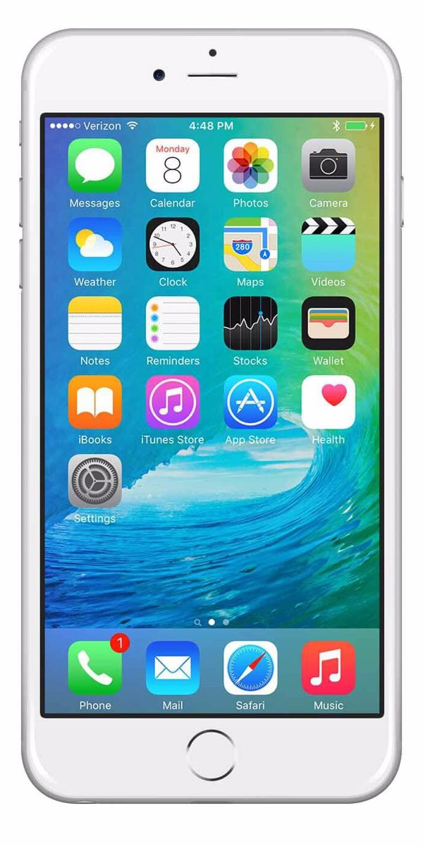Refurbished iPhone 6 Plus 16GB Wit Voorkant