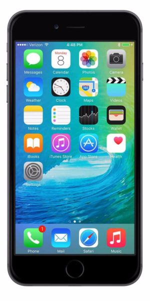Refurbished iPhone 6 Plus 16GB Zwart Voorkant