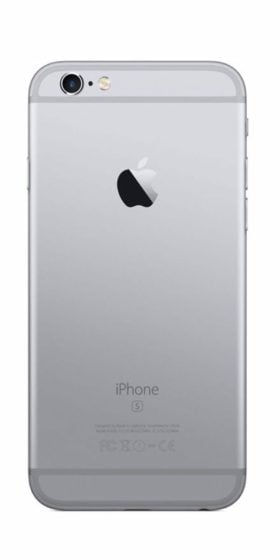 Refurbished iPhone 6 Plus 64GB Zwart Achterkant