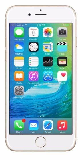 Refurbished iPhone 6s 16GB Goud Voorkant