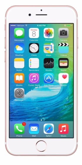 Refurbished iPhone 6s 16GB Roségoud Voorkant