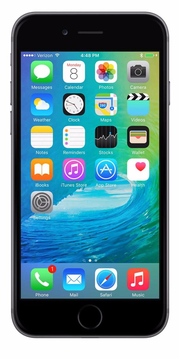 Refurbished iPhone 6s 128GB Zwart Voorkant
