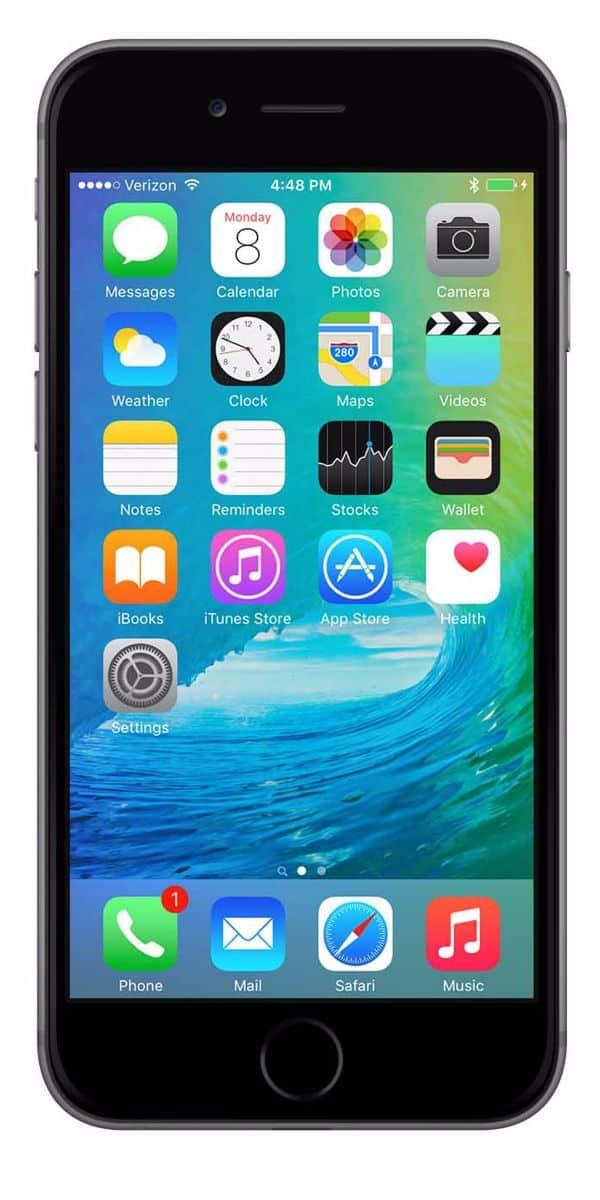 Refurbished iPhone 6s Plus 64GB Zwart Voorkant