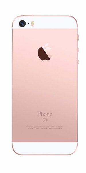 Refurbished iPhone SE 16GB Roségoud Achterkant