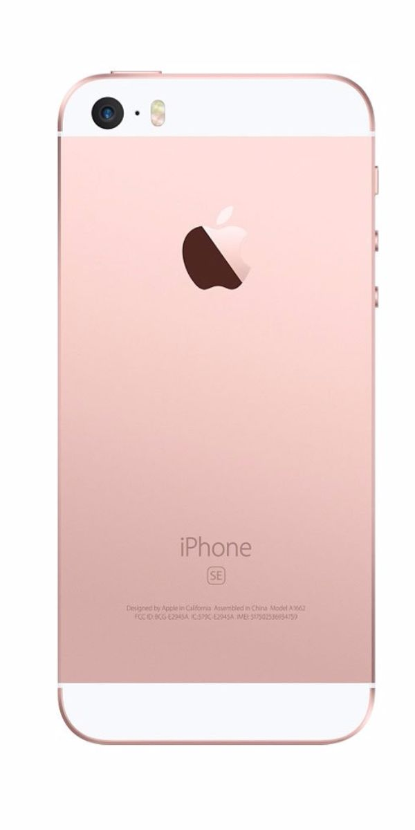 Refurbished iPhone SE 16GB Roségoud Achterkant