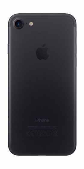Refurbished iphone 7 256GB jet black achterkant