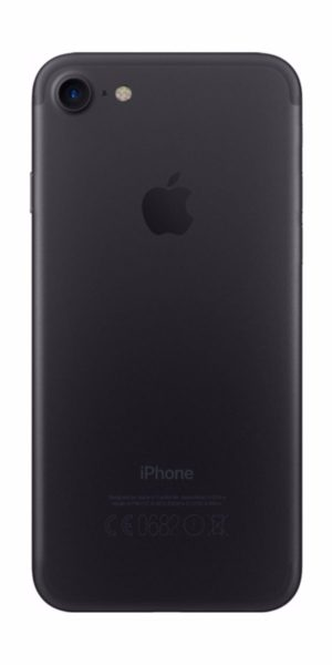 Refurbished iphone 7 256GB jet black achterkant