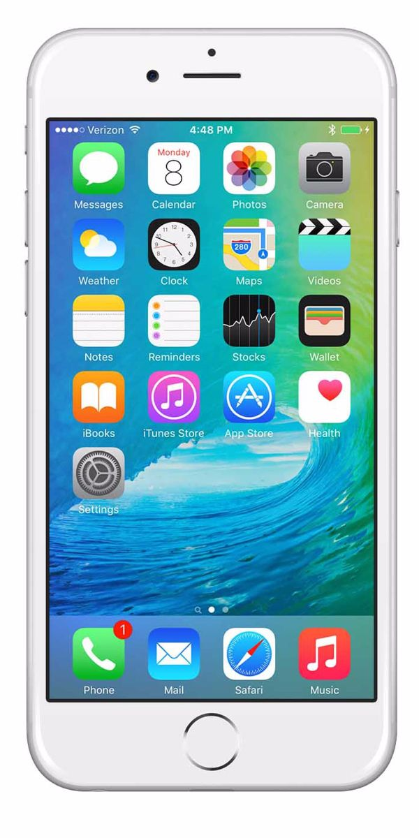 Refurbished iPhone 6s Plus 16GB Wit Voorkant