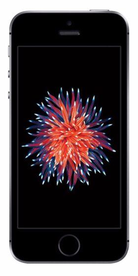 Refurbished iPhone SE 16GB Zwart Voorkant