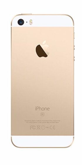 Refurbished iPhone SE 64GB Goud Achterkant