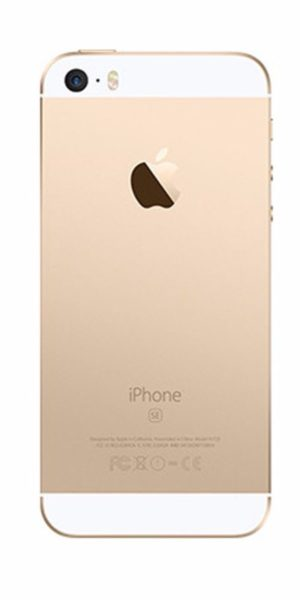 Refurbished iPhone SE 64GB Goud Achterkant