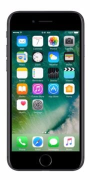 Refurbished iphone 7 128GB jet black voorkant