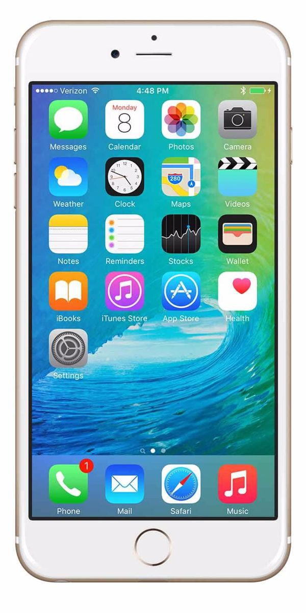 Refurbished iPhone 6 Plus 128GB Goud Voorkant