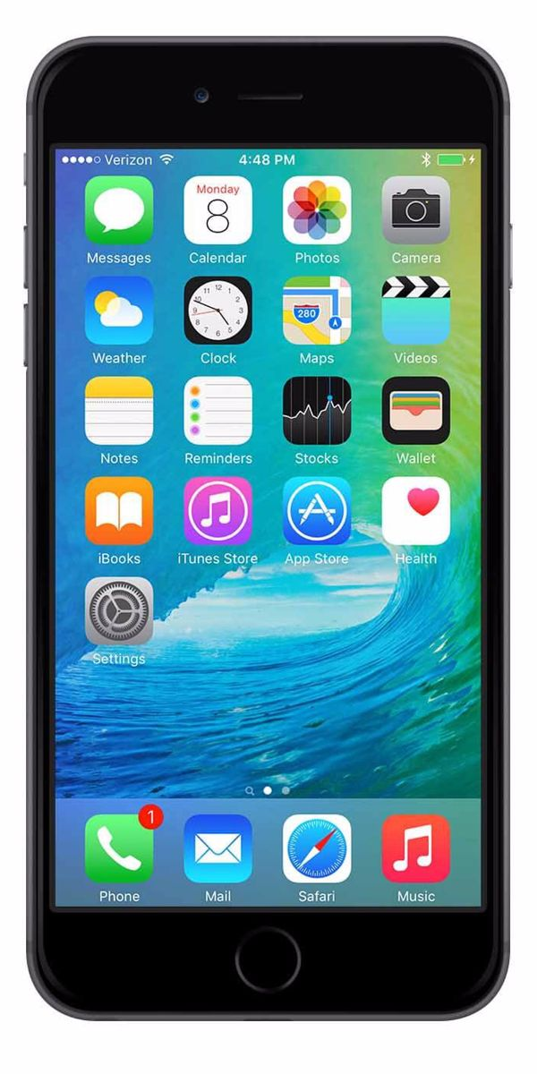 Refurbished iPhone 6 Plus 128GB Zwart Voorkant