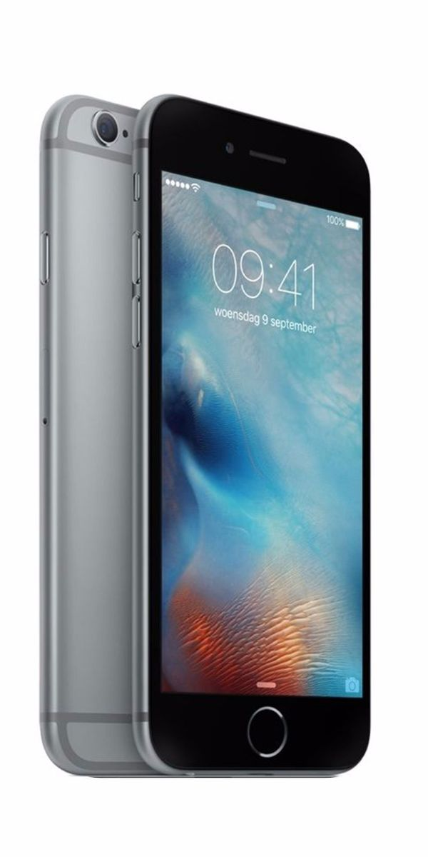 Refurbished iPhone 6 Plus 128GB Zwart Zijkant