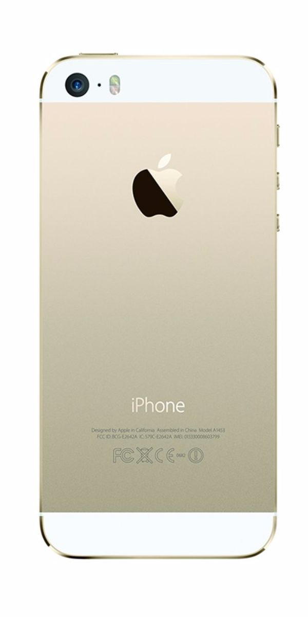 Refurbished iPhone 5s 64GB Goud Achterkant