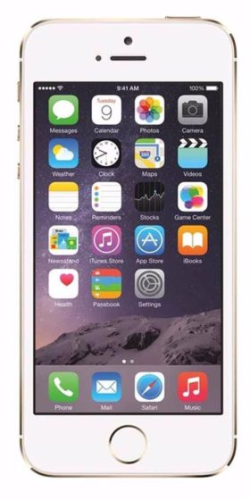 Refurbished iPhone 5s 64GB Goud Voorkant