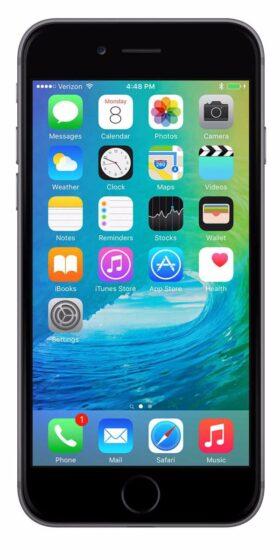 Refurbished iPhone 6s Plus 128GB Zwart Voorkant