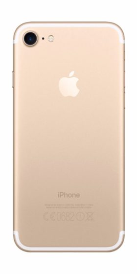 Refurbished iPhone 7 128GB Goud Achterkant