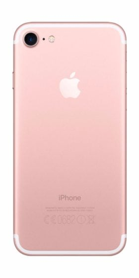 Refurbished iPhone 7 128gb roségoud achterkant
