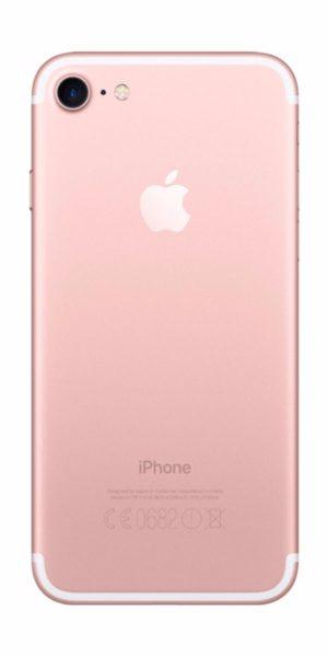 Refurbished iPhone 7 128gb roségoud achterkant