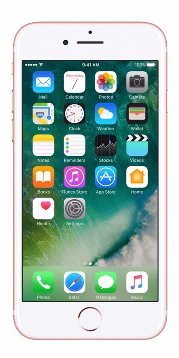 Refurbished iPhone 7 128gb roségoud voorkant