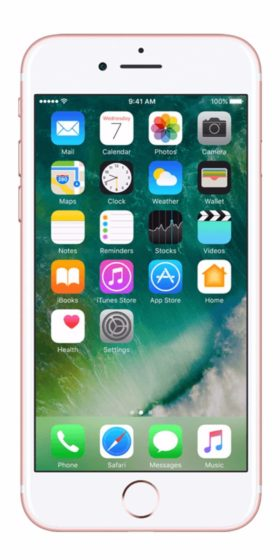 Refurbished iPhone 7 256gb roségoud voorkant