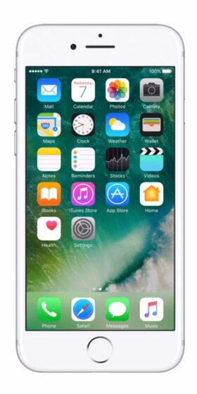 Refurbished iPhone 7 Plus 32GB wit voorkant