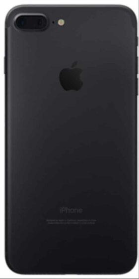 Refurbished iPhone 7 Plus Zwart Achterkant