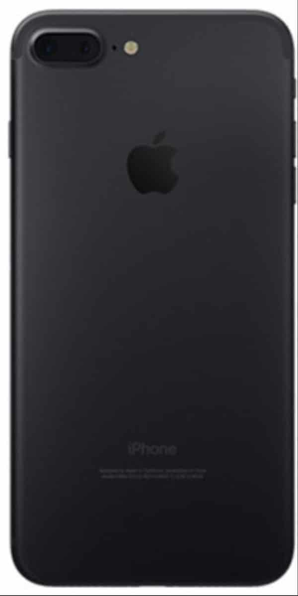 Refurbished iPhone 7 Plus Zwart Achterkant