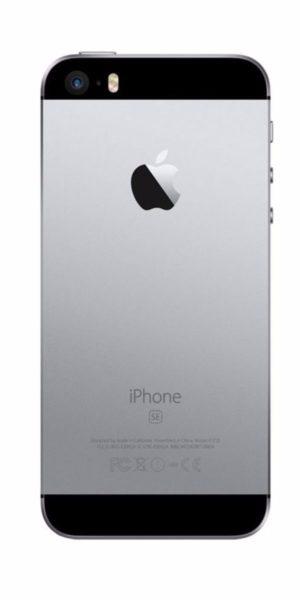 Refurbished iPhone SE 32GB Zwart Achterkant