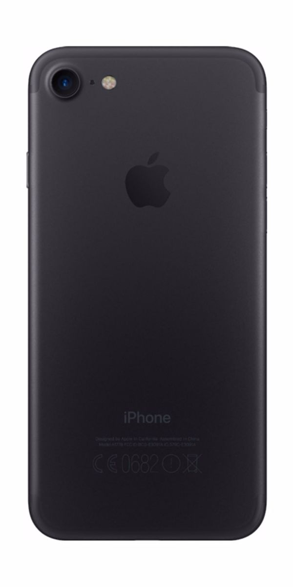 Refurbished iphone 7 128gb zwart achterkant