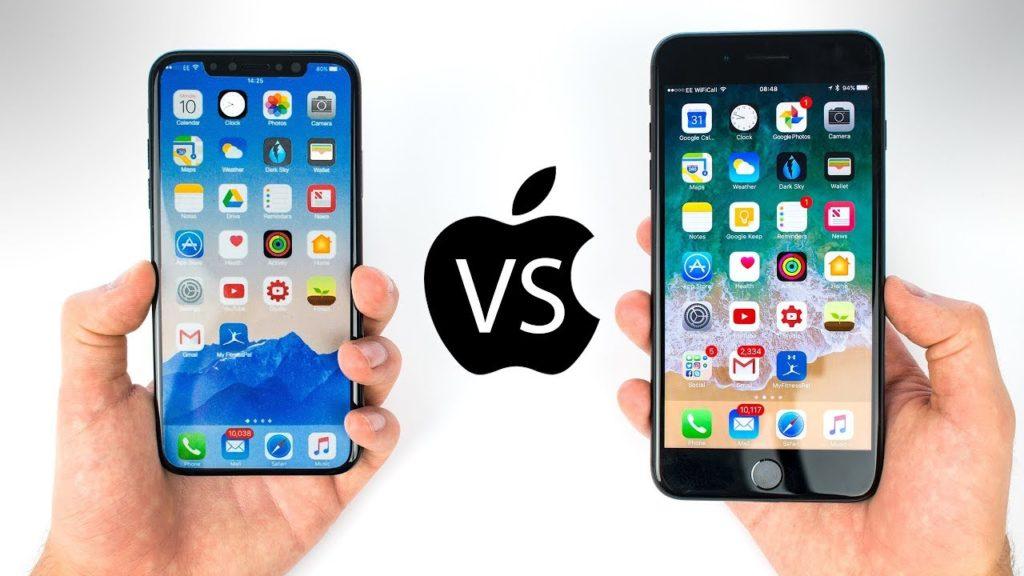 Vergelijking iPhone 8, 8 Plus en X