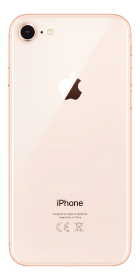 Refurbished iPhone 8 256GB Goud Achterkant