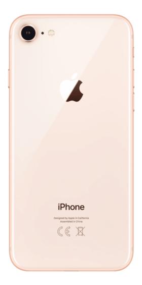 Refurbished iPhone 8 256GB Goud Achterkant