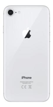 Refurbished iPhone 8 256GB Zilver Achterkant