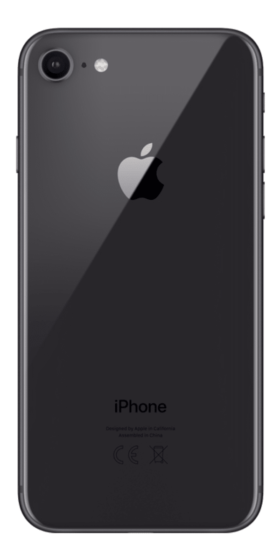 Refurbished iPhone 8 64GB Space Grey Achterkant