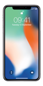 Refurbished iPhone X 256GB Zilver