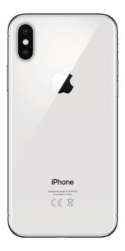 Refurbished iPhone X 256GB Zilver achterkant