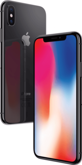 Refurbished iPhone X 64GB Space Grey 3D