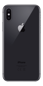 Refurbished iPhone X 64GB Space Grey Achterkant