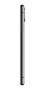 Refurbished iPhone X 64GB Space Grey Zijkant