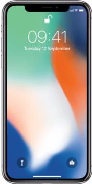 iPhone X zilver